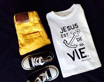 JESUS EST L'ANCRE de ma vie t-shirt
