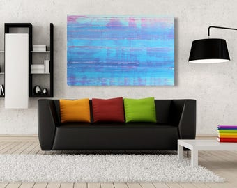Large, Original Abstract, Acrylic Painting, Large Stretched Canvas, FREE SHIPPING!