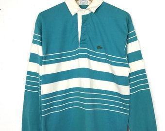 Vintage 90s IZOD LACOSTE Striped Rugby Polos Size Medium