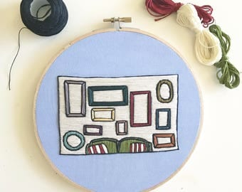 Empty Frames Hand Embroidery