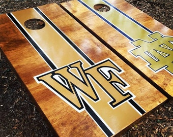 Wake Forest Cornhole Set With Bags
