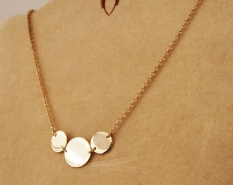 3 round 925 sterling silver necklace