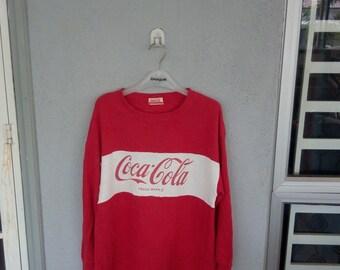 "Vintage Coca Cola Sweatshirt hip hop style pit 21"" inches"