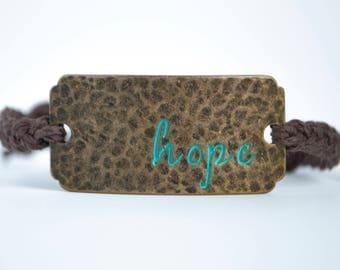 Quote Charm Braided Hemp Cord Bracelet [Stackable, Handmade, Adjustable]