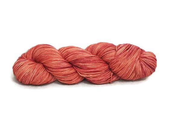 Hand Dyed Yarn 'Clara Ford's Roses' - Sock Weight Hand Painted Tonal/Varigated Yarn - 100g of 75/25 Merino/Nylon Blend Superwash 4Ply Yarn