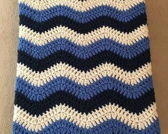 Beautiful Ripple Crochet Blanket