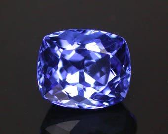 3.64 ctw. purple blue tanzanite loose gemstone.