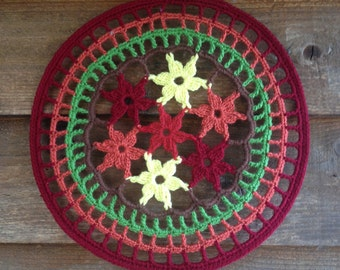 Autumn Mandala Crochet Dreamcatcher Wall hanging Homerdecor Dream Catcher