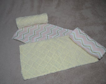 Baby Burp Cloth - Pink and Gold - Set of 4