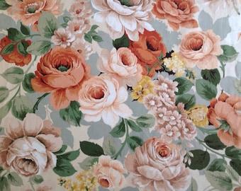 Vintage Sanderson Albury shabby chic romantic floral fabric 1.2 m x 1m