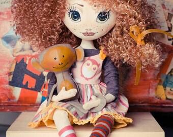Interior doll Fabric doll Beautiful doll Buy a doll Art doll Boudoir doll Textile doll Cloth doll Decorative doll Custom cloth doll rag doll