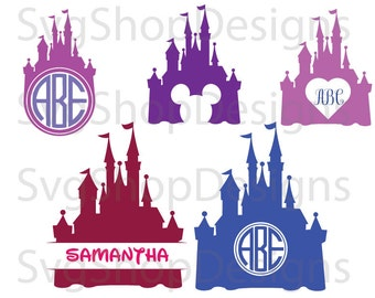 Disney Castle svg, dxf, clipart, SVG files for Silhouette Cameo or Cricut, vector, svg, dxf ,eps,ai,png,jpg