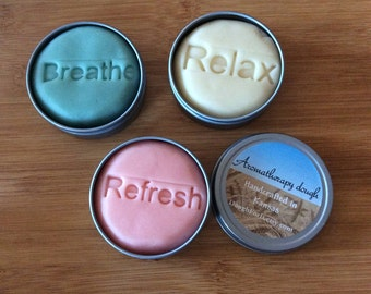 Pastel aromatherapy dough 3 pack, non-traditional stress ball, anxiety relief, fidget, stim toy, adult play doh, sensory, gift for her