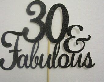 30th birthday cake topper | Etsy