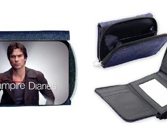 The Vampire Diaries Damon Salvatore Ian Somerhalder Denim Wallet