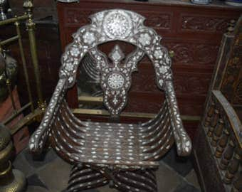 Syrian armchair made of mother of pearls from the 19th century