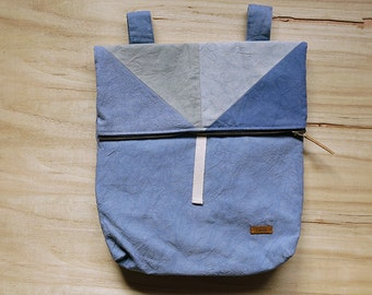 Hand-stained backpack