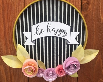 Be Happy - wall hanging
