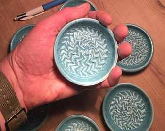 Turquoise Wee Jaggy Plate