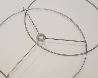 "10"" Lampshade ring set  l  Top and bottom Lamp Shade washer ring l DIY Lamp Hardware l Ring set 1/2"" drop l Lampshade frame"