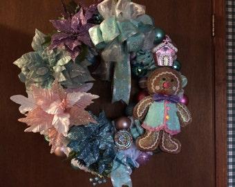 Gingerbread Girls Christmas wreath