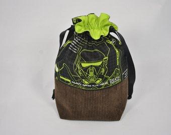 Project bag, lunch bag, drawstring bag, knitting bag, yarn holder, crochet project bag, wip bag