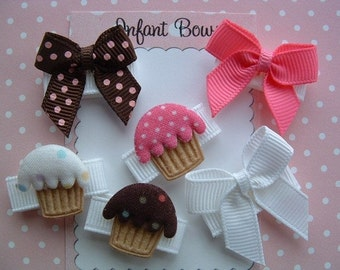 INFANT BABY BOWS cupcakes