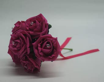 Wedding Posy - Perfect for Bridesmaids ( Hot Pink )
