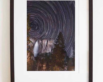 The World keeps on Spinning - astronomical print - landscape print -  A5, A4, A3 unframed