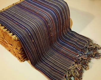 Turkish BATH Towel Peshtemal purple -  natural / organic cotton / %100 cotton Beach, Spa, Swim, Pool Towels and Pareo
