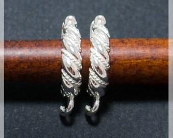 Sterling Silver Leverback, Ear hooks, Ear wire,  earrings components B30