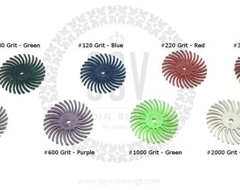 "Radial Bristle Disc Brush 1"" Diameter and Mandrel for Polishing Jewelry"