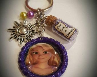 Disney Rapunzel inspired keychain
