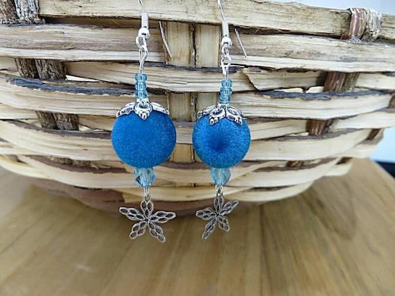 Earrings turquoise Velvet