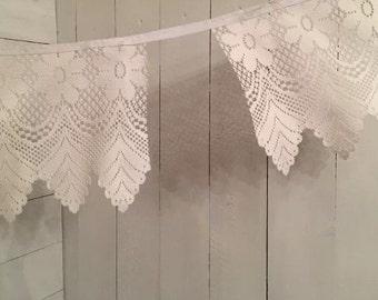 Handmade Bespoke Lace/Cotton Bunting