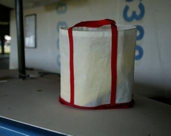 Recycled Sailcloth Red Tote - Old Sail Cloth - Sail Bag