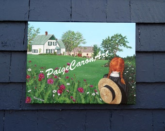 Looking on with Love - Anne of Green Gables, PEI - Original Acrylic Painting on Canvas 16x20