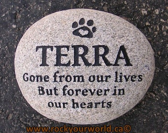 Large Pet Memorial Stone (Grave Stone / Marker)