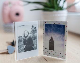 Instax Mini Photo Frame Double For Fujifilm Instax Mini 9 / 8 / 90 / 7s / 25 Camera Photo Film.
