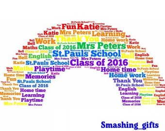 Teacher childminder nursery personalised print appreciation keepsake gift