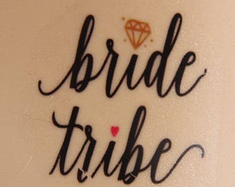 Bride Tribe Tattoos | bachelorette party tattoo, temporary tattoo, tattoos, bridesmaid gifts, tattoo favor