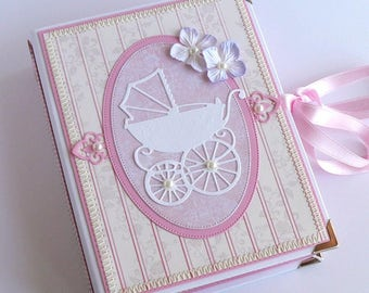 Mini Scrapbook, Baby Girl Photo Album, Baby Girl Brag Book, Baby Scrapbook, Baby Girl Photo Book, Pocket Size Baby Album, Baby Shower Gift