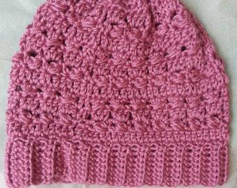 "The ""Miranda"" Crochet Hat in Plum Wine"