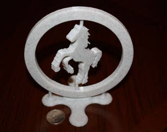 Rotating Horse on Stand--3D Printed