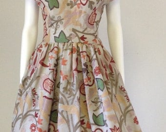 50s Style Party Dress, Autumn Party Dress, Vintage Inspired Dress, Modest Party Dress