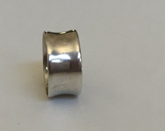 Wide Sterling Band Size 9