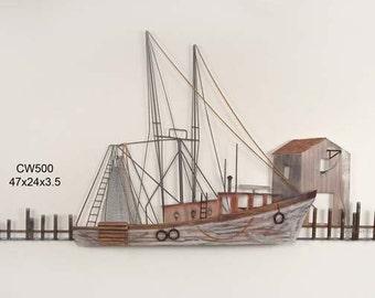Calabash Shrimp Boat at Dock - CW500