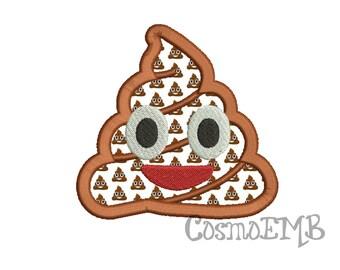 6 Size Poop Emoji Applique Embroidery Design  Machine Embroidery - Digital INSTANT DOWNLOAD