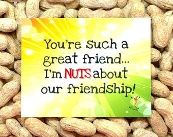 Nuts about Friendship! Gag Gift / Gift for Her / Gift for Him / Funny Greeting Card / Prank Gift / Birthday Card / Funny Cards/ Novelty gift