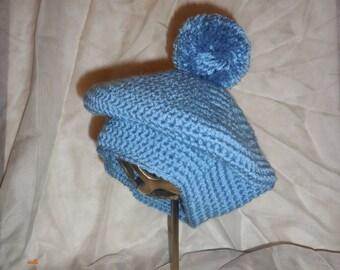 Baby hat, Photo Prop, Baby Tam hat, Crocheted baby hat